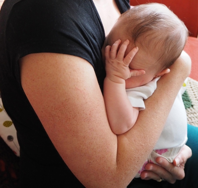 Baby facepalm