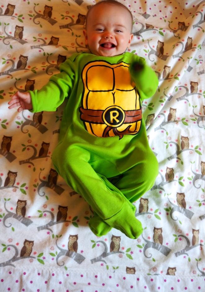 Popple as a ninja turtle