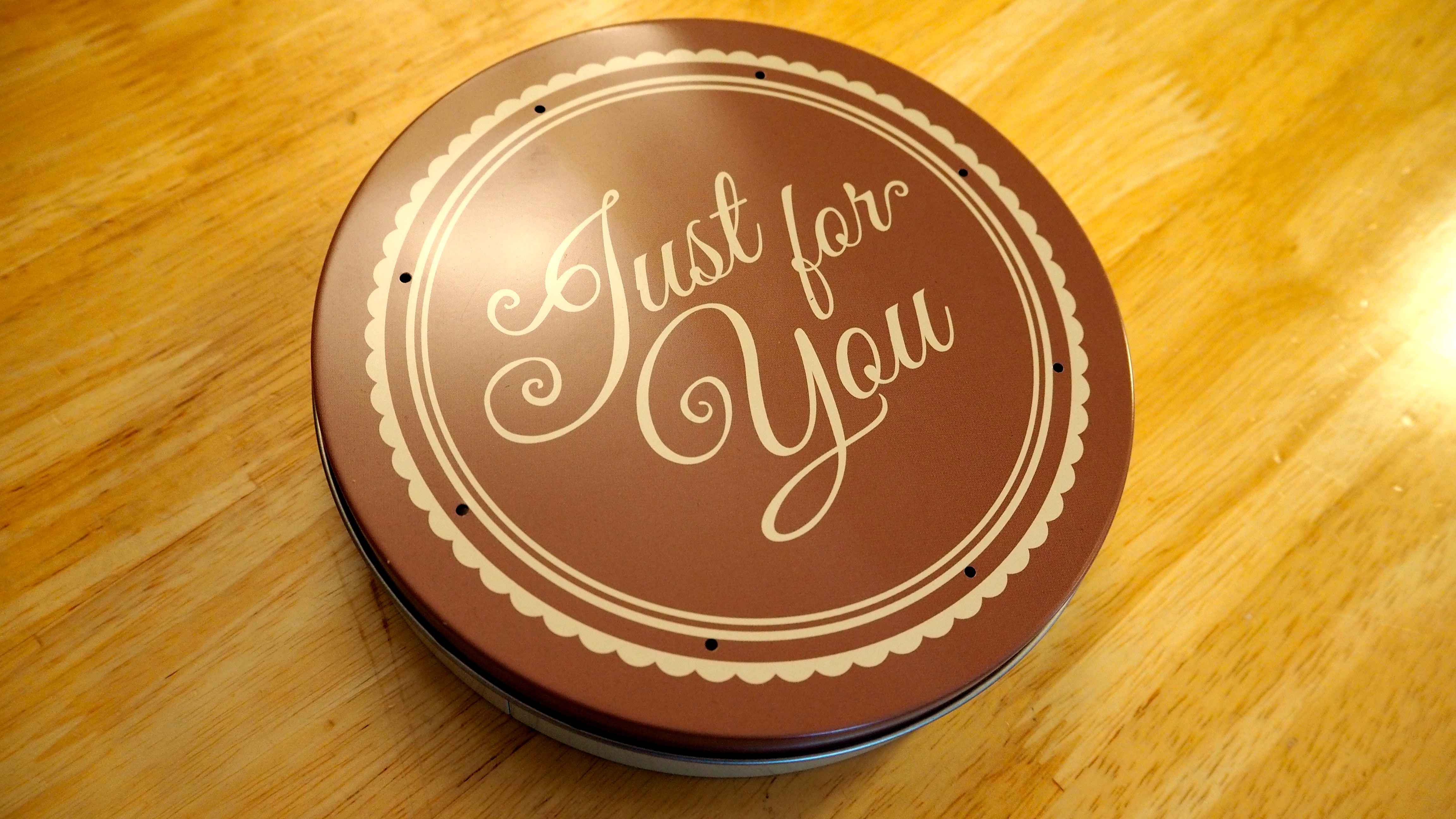 Just for you Baker Days cake tin